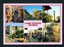 CYPRUS  -  Nicosia  Laiki Yitonia  Mult View  Unused Postcard - Cyprus