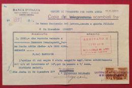 ETIOPIA ADDIS ABEBA 1O C.COME FISCALE SU LETTERA BANCA D'ITALIA  FIRMATO DIENA - Unclassified