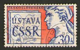 Cecoslovacchia - CZECHOSLOVAKIA 1960 -Constitution And Czechoslovakia  - SCOTT CS 1003 - Usati