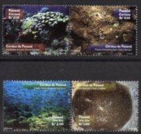 PANAMA, 2001, FAUNA, REEFS, YV#1212-13+A.549-50, MNH - Panama