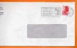 17 LA ROCHELLE  LES TIMBRES POSTE.....  20 / 5 / 1985 Lettre Entière 110x220 N° U 318 - Postmark Collection (Covers)