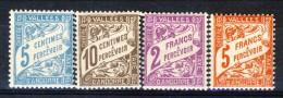 Andorra Timbre Taxe 1961 Serie N. 17-20  **MNH Catalogo € 97 - Nuovi