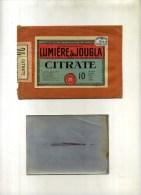 - POCHETTE LUMIERE & JOUGLA AVEC 1 FEUILLE CITRATE . - Zubehör & Material