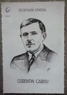 ILLUSTRATEUR.SECRETAIRE GENERAL C.G.T .CORENTIN CARIOU.DOS VIERGE.TBE. - People
