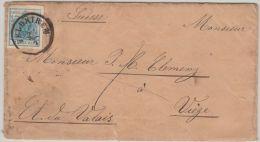 25977 Österreich, 1850, Vorarlberg, FELDKIRCH, 5 M III, Brief Im Grenzverkehr Nach VIEGE/Schweiz, Portogerecht, P! - Storia Postale
