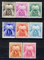 Andorra Chiffre Taxe 1943-46 Lotto Di 8 Bolli Della Serie N. 21-31 ** MNH E * MVLH Catalogo € 14 - Nuovi