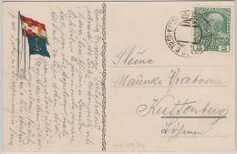 25989  Österreich, 1909, TRIEST-CATTARO, Schiffsstempel, 142, Ansichtskarte Nach KUTTENBERG/Böhmen - 1850-1918 Empire