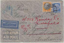 26000  Ostmark, 1939, WIEN, 100 Plg + 25 Pfg., Flugpost-Brief Nach SYDNEY/Australien Zu 10 G., P! - 1918-1945 1ste Republiek