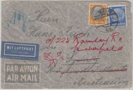 26000  Ostmark, 1939, WIEN, 100 Plg + 25 Pfg., Flugpost-Brief Nach SYDNEY/Australien Zu 10 G., P! - 1918-1945 1ère République