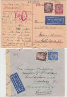 26002  Ostmark, 1941-1943, Lot Flugpost-Belege Nach Schweden (4), Alle P! - GF - 1918-1945 1st Republic