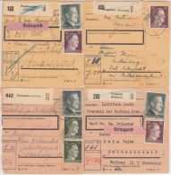 26003  Ostmark, 1942-1944, Steiermark, Lot Paketkarten (7), LICHTENWALD, HAGAU, POLSTRAU, FRAUHEIM, PRAGENHOF - 1918-1945 1ère République