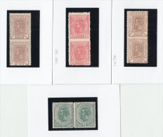 26021  Mi #99, 104, 117 Pairs Imperforated In Between Mint Hinged * And Others In Mutliples - Plaatfouten En Curiosa