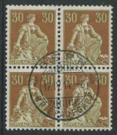 766 - 30 Rp. Helvetia Mit Schwert Im Viererblock - Gebraucht