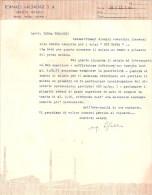 Lettera: Ufficio Tecnico FORNACI VALDADIGE S.A. Di Verona A TOMADINI Pordenone - Disegno Tecnico
