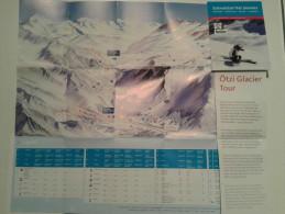Alt834 Ski Area Map Mappa Piste Sci Impianti Risalita Slopes Skilift Cablecar Charlift Funivia Val Senales Otzi Glacier - Sport Invernali