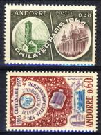 Andorra 1964-65 N. 171 Esposizione Filatelica E N. 173 Centenario UIT MNH Catalogo € 9,70 - Andorra Francese