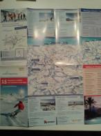 Alt840 Ski Area Map Mappa Piste Sci Impianti Risalita Slopes Skilift Cablecar Charlift Funivia Ortler Alto Adige - Sport Invernali