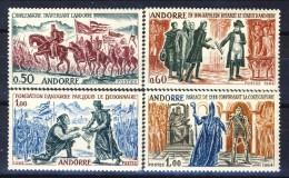 Andorra 1963-64 Serie N. 167-170 Fatti Storici D´Andorra MNH Catalogo € 85 - Andorra Francese