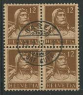 764 - 12 Rp. Tellbrustbild Im Viererblock - Gebraucht