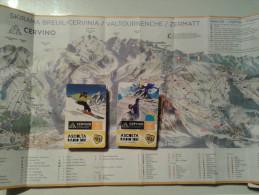 Alt843 Ski Area Map Mappa Piste Sci Skirama Comprensorio Sciistico Cervinia Valtournanche Cervino Matterhorn Snowboard - Sport Invernali