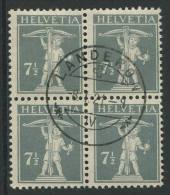 763 - 7 1/2 Rp. Tellknabe (T.II) Im Viererblock - Suisse