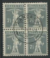 763 - 7 1/2 Rp. Tellknabe (T.II) Im Viererblock - Gebraucht