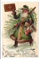 CPA Gaufrée Père Noel - Santa Claus
