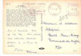 Marcophilie-EMA-Cachet Rouge-Cap-Nègre-Cavalière (Var)-Surplage-Hôtel-5/9/1966-La Paella Plat Espagnol-Recette-scan - Marcophilie (Lettres)