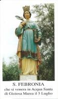 S.  FEBRONIA - GIOIOSA MAREA - Mm. 68X115-M-PR - Religione & Esoterismo