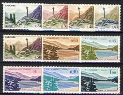 Andorra 1961-71 Serie N. 158-164 Paesaggi **MNH Catalogo € 105 - Andorra Francese
