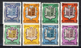 Andorra 1961-71 N. 153A-157 Stemmi MNH Catalogo € 4,20 - Andorra Francese