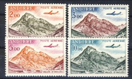 Andorra 1961-64 Posta Aerea Serie N. 5-8 Vallé D'Inclès MNH Catalogo € 12 - Poste Aérienne