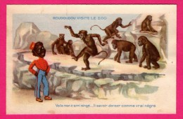 Dessin - Roudoudou Visite Le Zoo - Voilà Mon Z'ami Singe... Nègre - Grands Magasins De La Samaritaine - HENRI MEYER Fils - Monos
