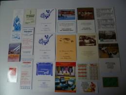 Lot De 35 Calendriers Petit Format - Calendriers
