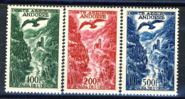 Andorra 1955-57 Posta Aerea Serie N. 2-4 * MVLH Catalogo € 75 - Poste Aérienne