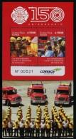 Costa Rica (2015) - Block -   /  Firefighter - Bomberos - Pompiers - Transportation - Bombero