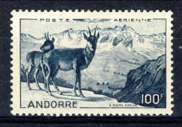 Andorra 1950 Posta Aerea N. 1 Paesaggio Fr. 100 Blu-nero ** MNH Catalogo € 109 - Poste Aérienne
