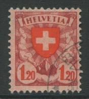 771 - 1.20 Fr. Wappenschild Mit Abart HFLVETIA - Variétés