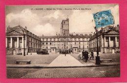 21 COTE-d'OR DIJON, Hôtel De Ville, Ancien Palais Des Etats, Animée,  Pub Liebig, Véhicules, 1924, - Dijon