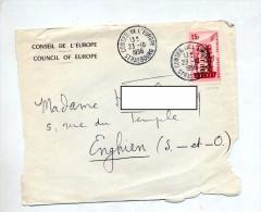 Devant De Lettre Cacchet Strasbourg Conseil Europe - Marcophilie (Lettres)