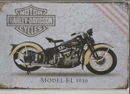 CARTEL DE METAL 20X30 CM -1 HARLEY DAVIDSON - Plaques Publicitaires
