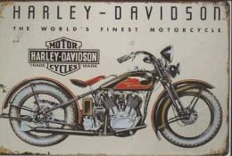CARTEL DE METAL 20X30CM -3 HARLEY DAVIDSON - Plaques Publicitaires