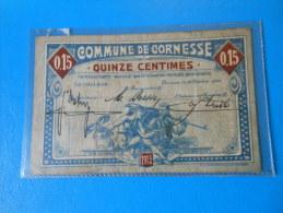 Belgique Belgium Cornesse 1ère Guerre Mondiale  , 15 Centimes 31-10-1915 - [ 3] Ocupaciones Alemanas En Bélgica