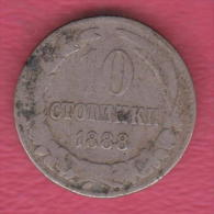 F5027 / - 10 Stotinki - 1888 - Bulgaria Bulgarie Bulgarien Bulgarije - Coins Monnaies Munzen - Bulgaria