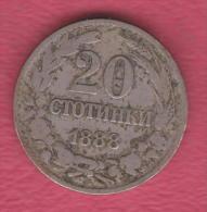 F5036 / - 20 Stotinki - 1888 - Bulgaria Bulgarie Bulgarien Bulgarije - Coins Monnaies Munzen - Bulgaria