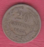 F5037 / - 20 Stotinki - 1888 - Bulgaria Bulgarie Bulgarien Bulgarije - Coins Monnaies Munzen - Bulgaria