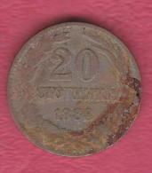 F5042 / - 20 Stotinki - 1888 - Bulgaria Bulgarie Bulgarien Bulgarije - Coins Monnaies Munzen - Bulgaria
