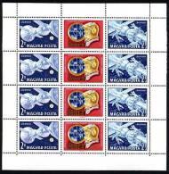 HONGRIE 1969, SOYOUZ-4 Et 5, 1 Feuillet 8 Valeurs + 4 Vignettes, NEUFS. R324 - Space
