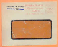 PARIS  BANQUE DE FRANCE  1960 Devant De Lettre N° EMA 3046 - Postmark Collection (Covers)