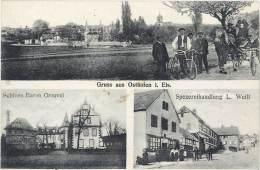Gruss Aus Osthofen I. Els. ( Schloss Baron Grouvel ... Spezereihandlung L. Weill ) - France